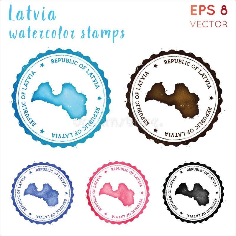 Timbre de la Lettonie illustration stock