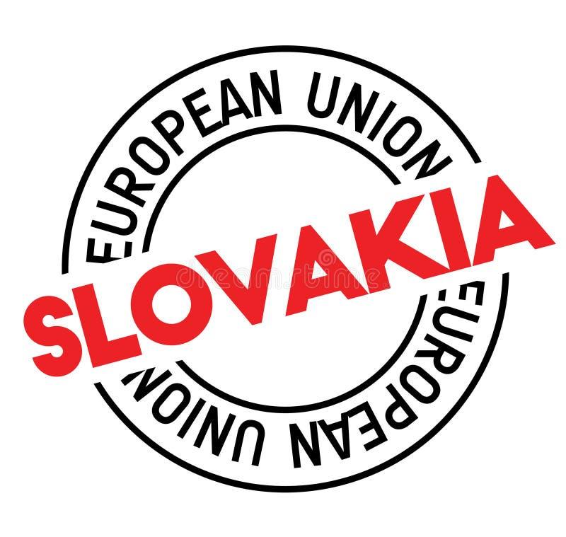 Timbre de la Slovaquie sur le blanc illustration stock
