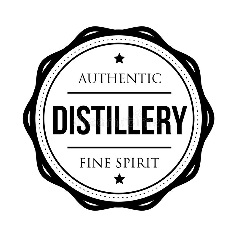 Timbre de logo de vintage de distillerie illustration libre de droits