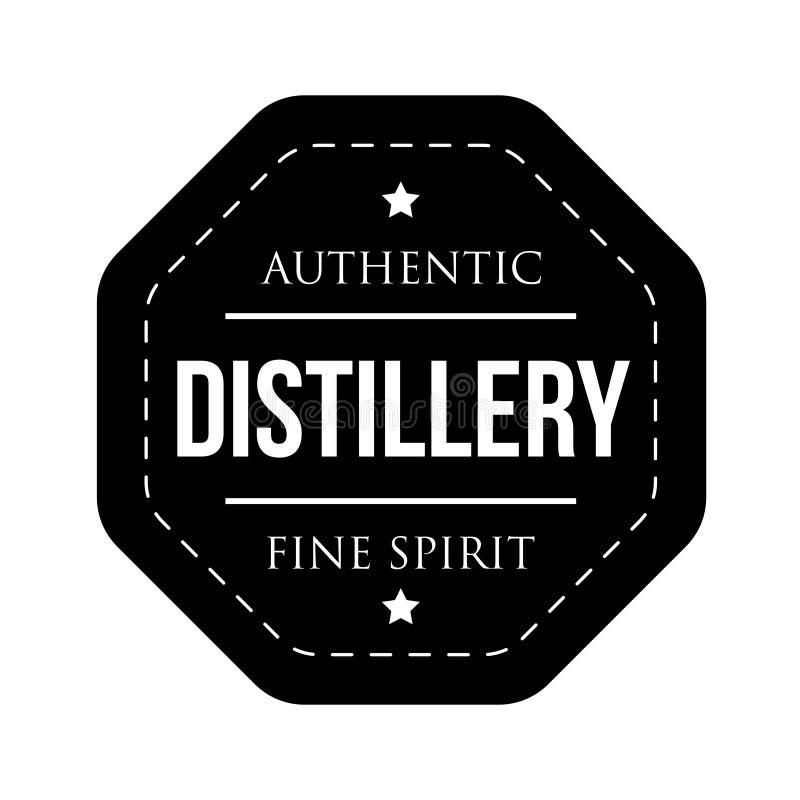 Timbre de logo de vintage de distillerie illustration de vecteur