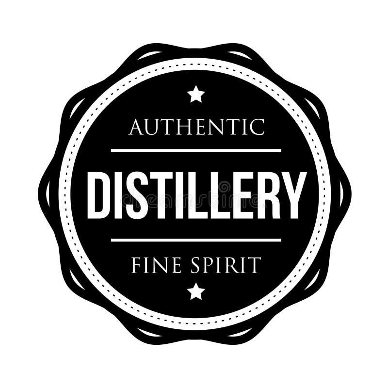 Timbre de logo de vintage de distillerie illustration stock