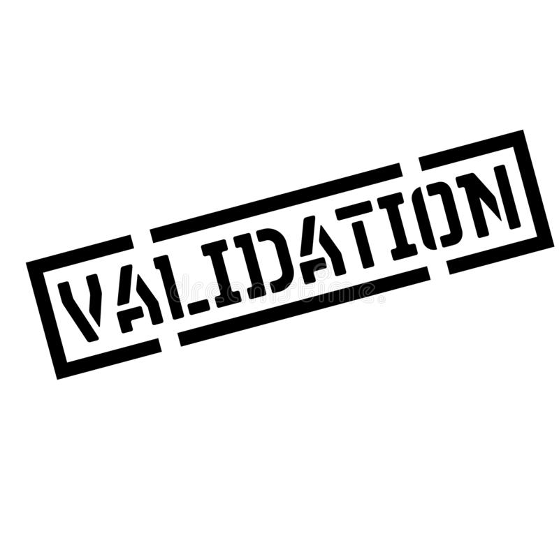 Timbre de noir de validation illustration libre de droits
