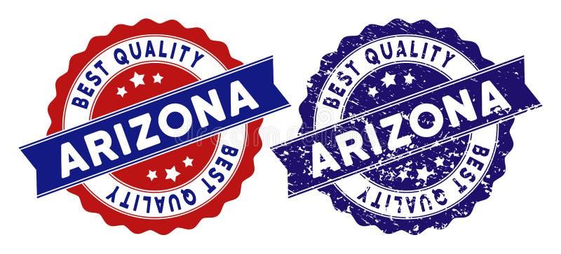Timbre de qualité d'état de l'Arizona le meilleur avec la texture grunge illustration de vecteur