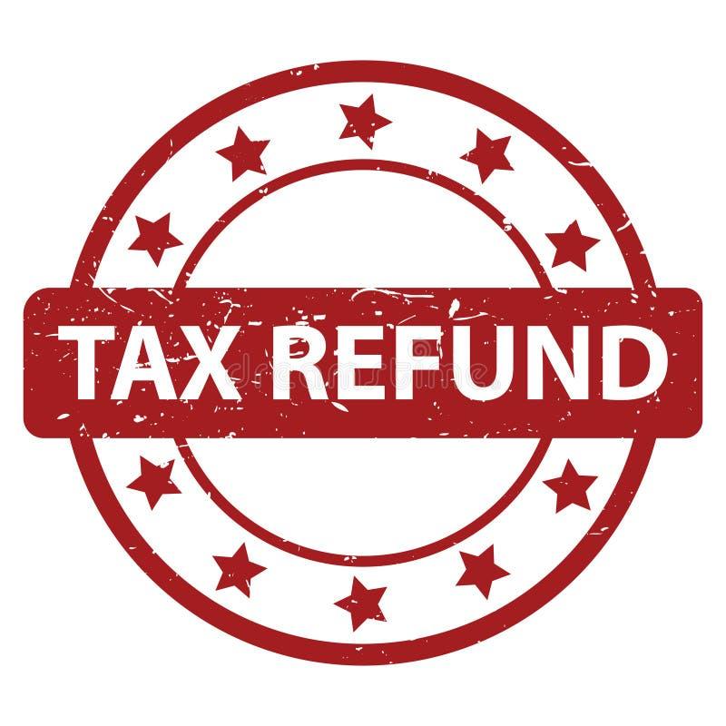 Timbre de remboursement d'impôt fiscal illustration de vecteur