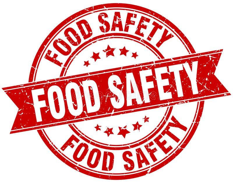 Timbre de sécurité alimentaire illustration stock