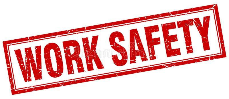Timbre de sécurité de travail illustration stock