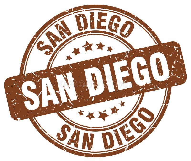 Timbre de San Diego illustration stock