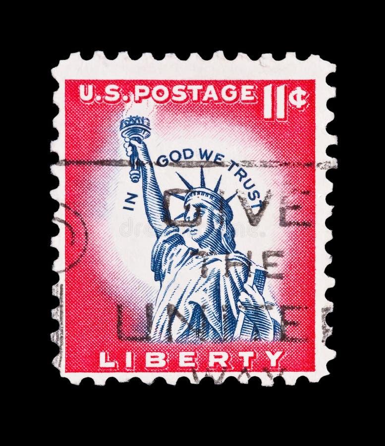 Timbre de statue de liberté photo libre de droits