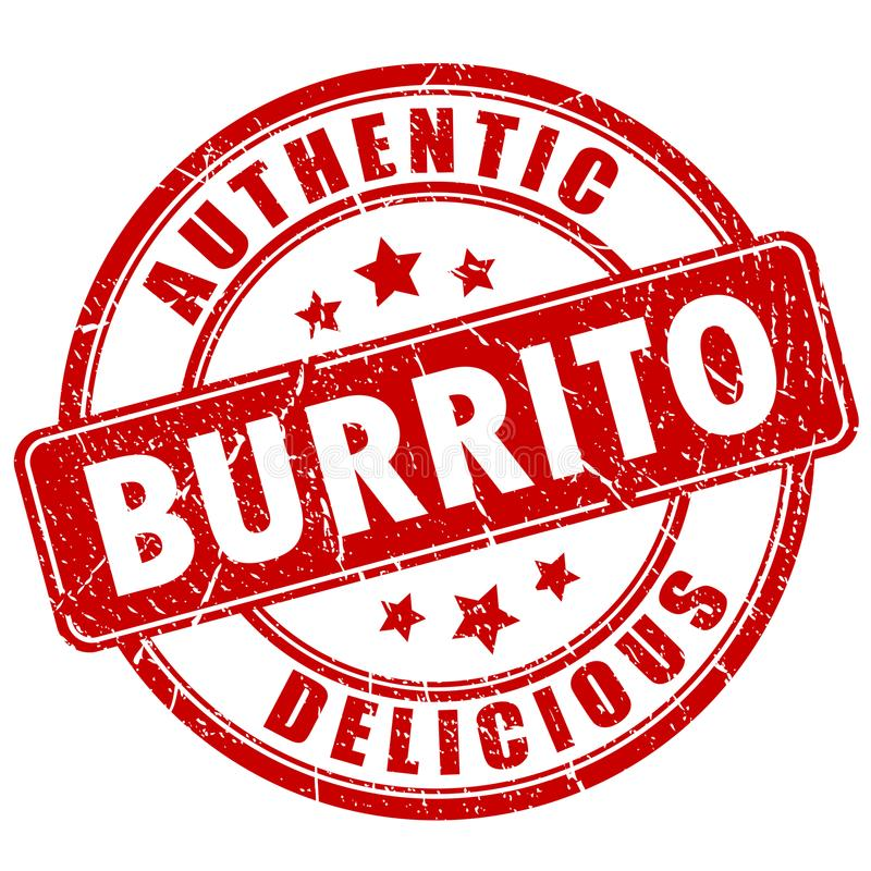 Timbre de vecteur de Burrito illustration de vecteur