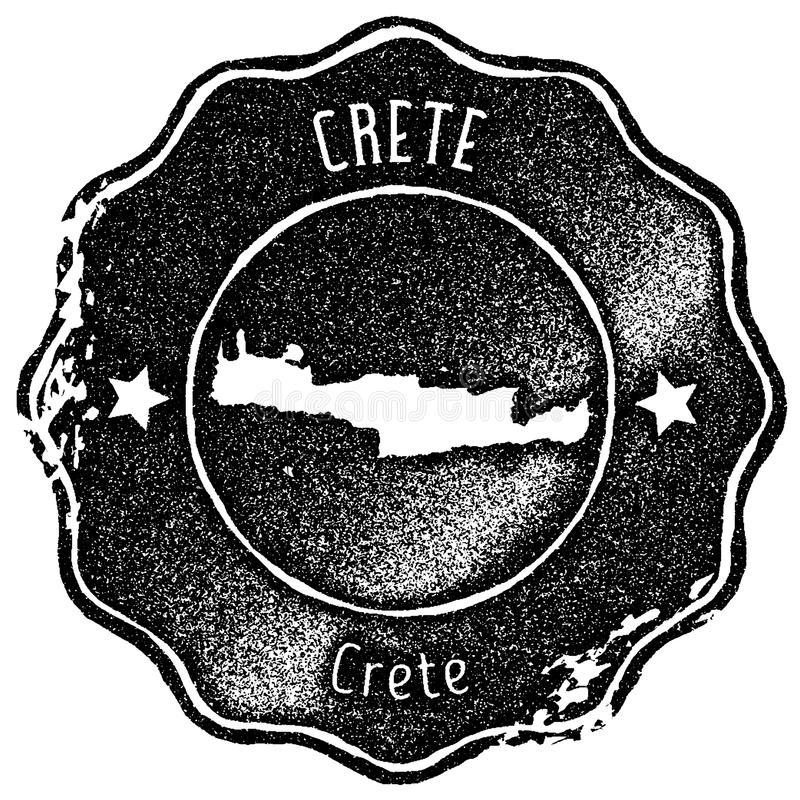 Timbre de vintage de carte de Crète illustration libre de droits