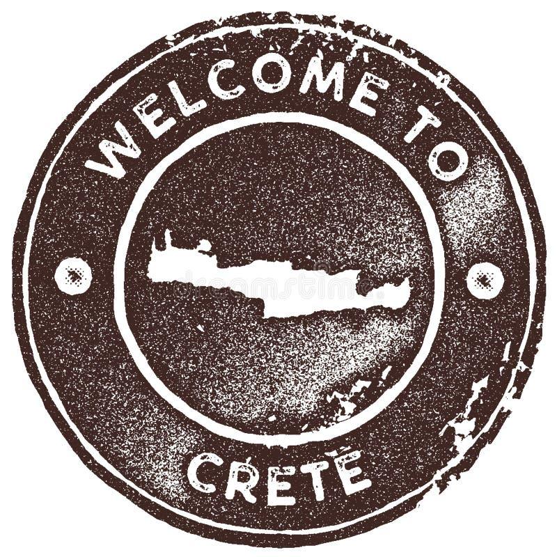 Timbre de vintage de carte de Crète illustration de vecteur