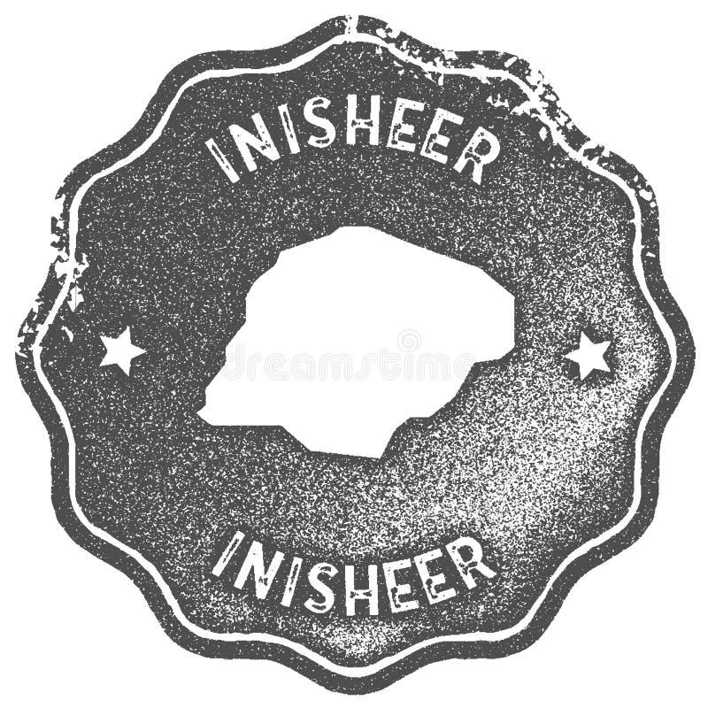 Timbre de vintage de carte d'Inisheer illustration de vecteur