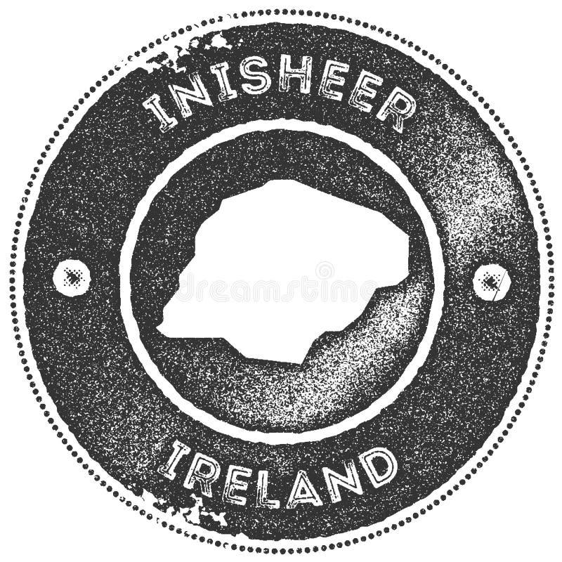Timbre de vintage de carte d'Inisheer illustration stock