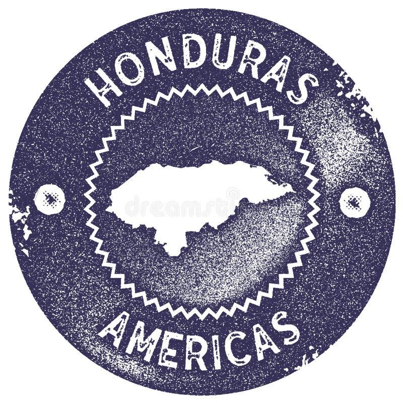 Timbre de vintage de carte du Honduras illustration de vecteur