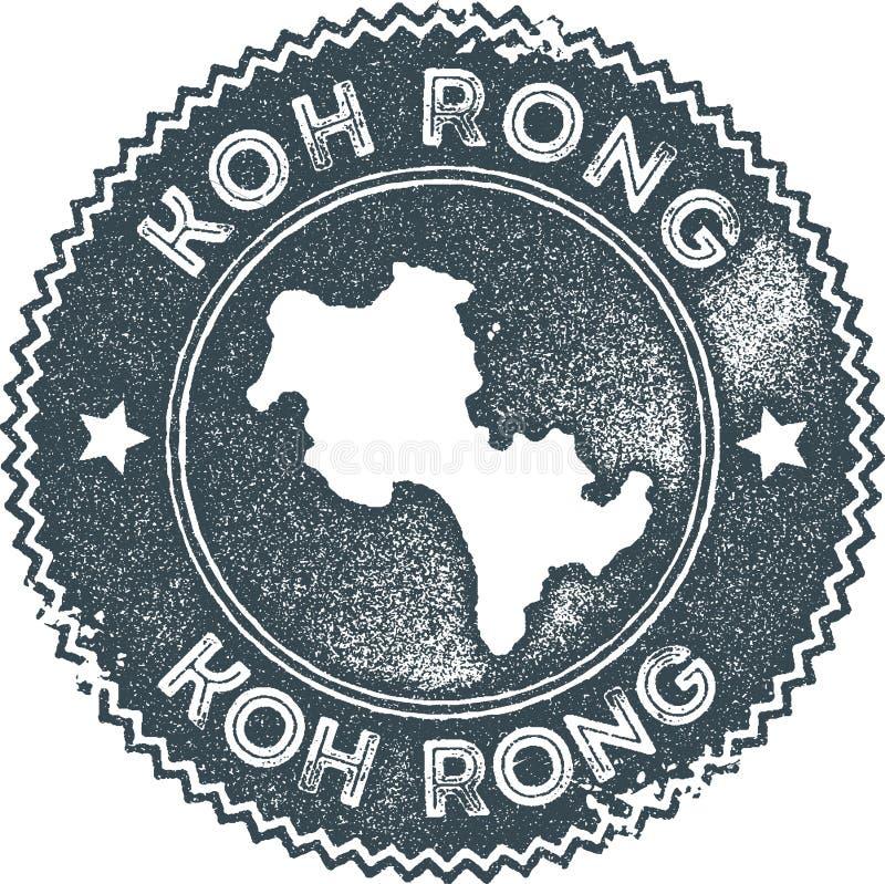 Timbre de vintage de carte de Koh Rong illustration libre de droits