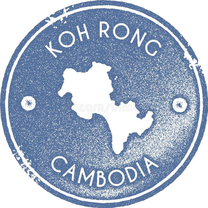 Timbre de vintage de carte de Koh Rong illustration stock