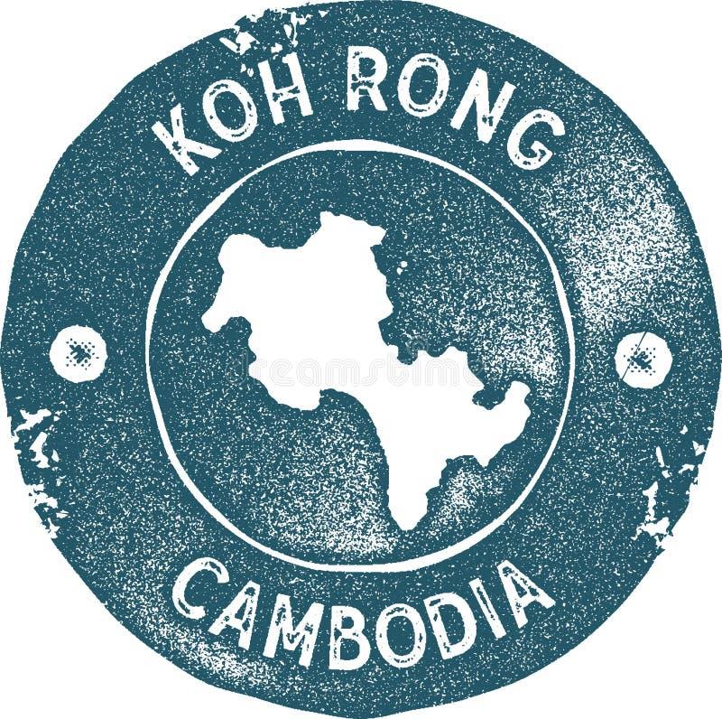 Timbre de vintage de carte de Koh Rong illustration de vecteur