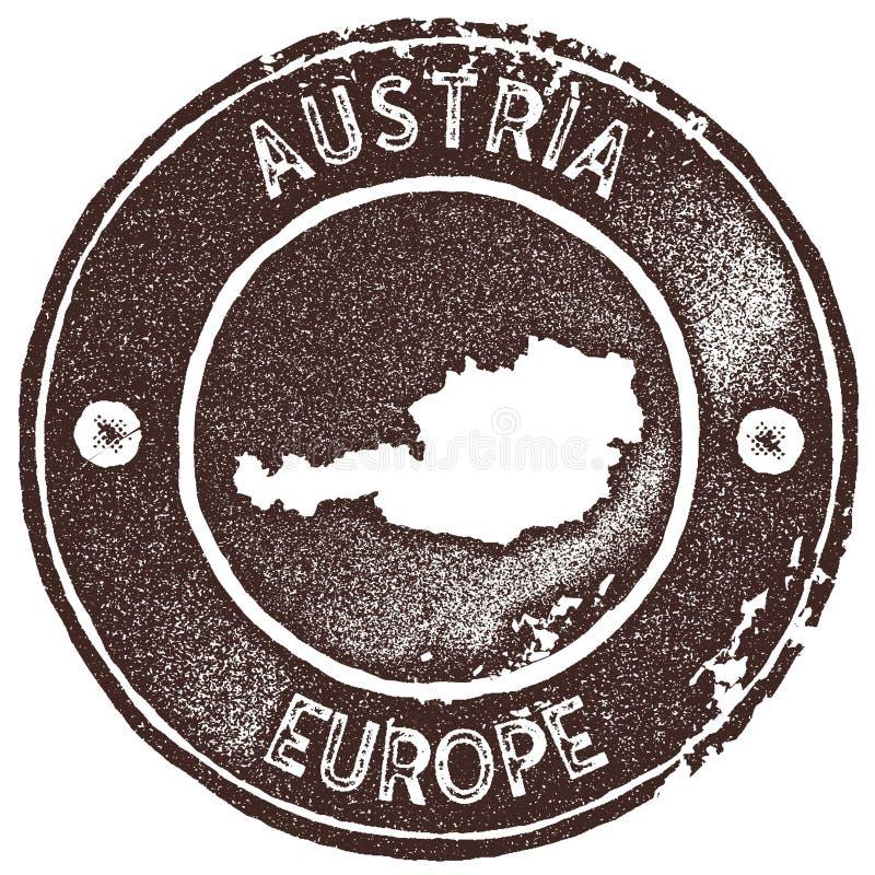 Timbre de vintage de carte de l'Autriche illustration libre de droits