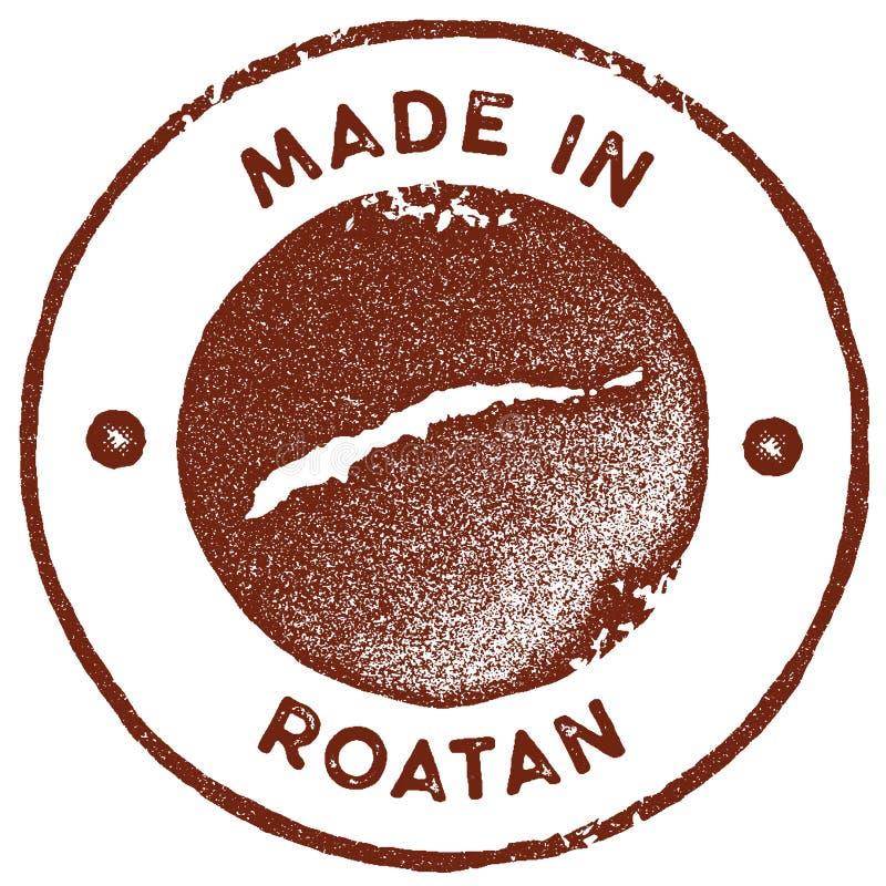 Timbre de vintage de carte de Roatan illustration libre de droits