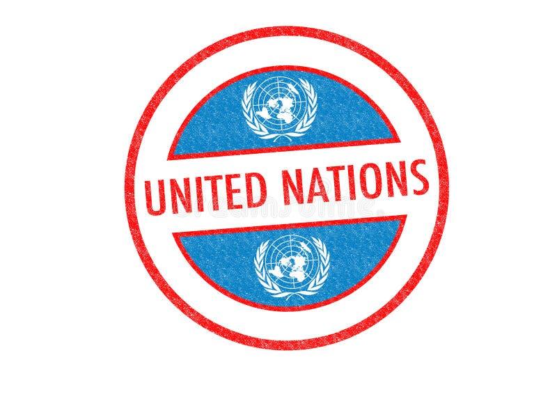Timbre des NATIONS UNIES illustration de vecteur
