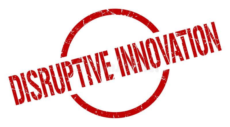 Timbre disruptif d'innovation illustration de vecteur