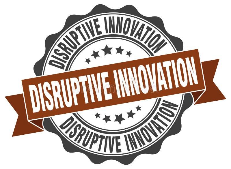 Timbre disruptif d'innovation illustration stock
