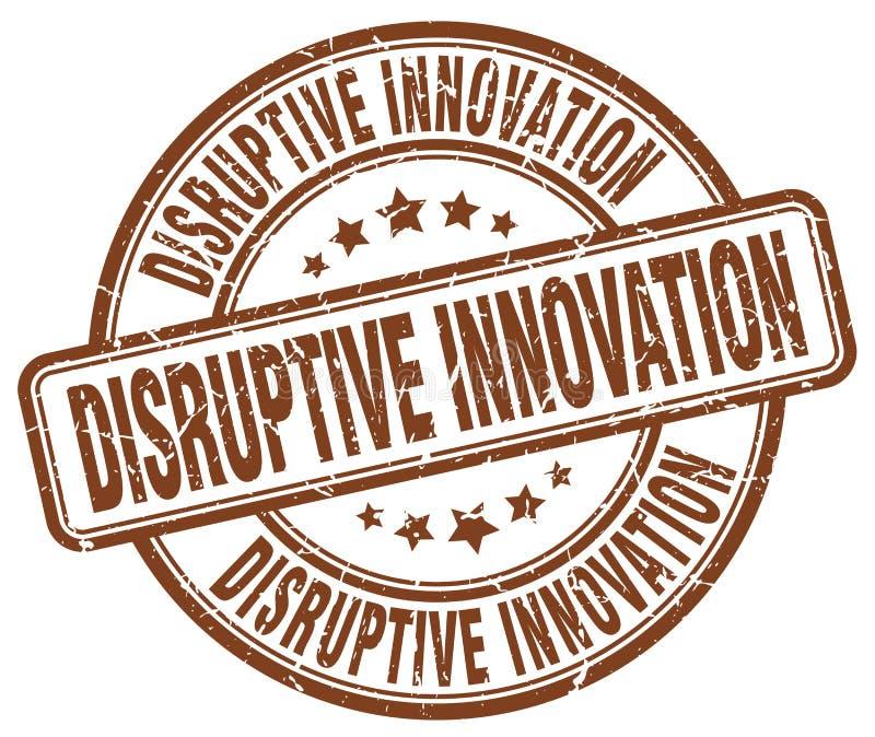 timbre disruptif de brun d'innovation illustration libre de droits