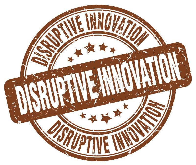 timbre disruptif de brun d'innovation illustration stock