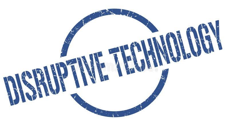Timbre disruptif de technologie illustration de vecteur