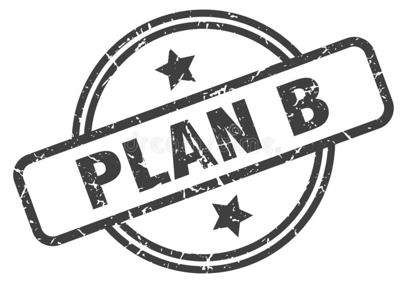 Timbre du plan b illustration libre de droits