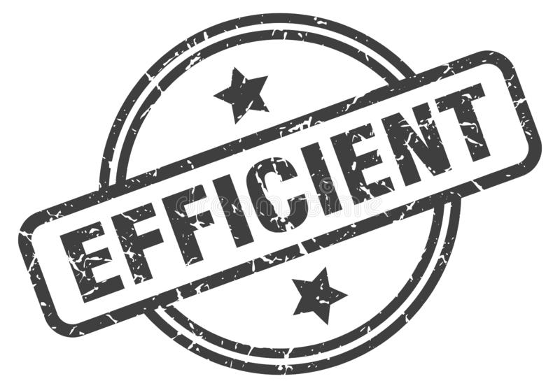 Timbre efficace illustration stock