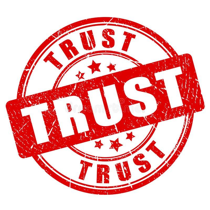 Timbre en caoutchouc de vecteur de confiance illustration stock