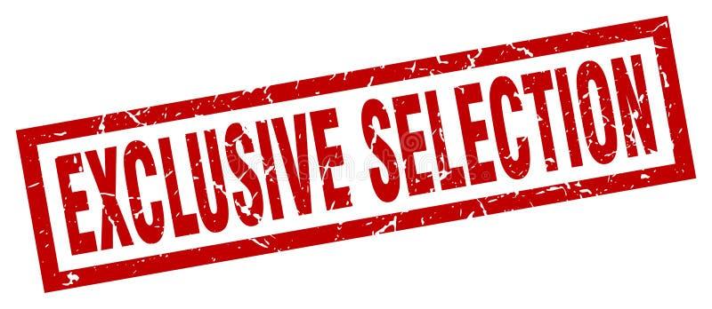 timbre exclusif grunge carré de sélection illustration libre de droits