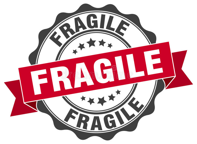 Timbre fragile illustration stock
