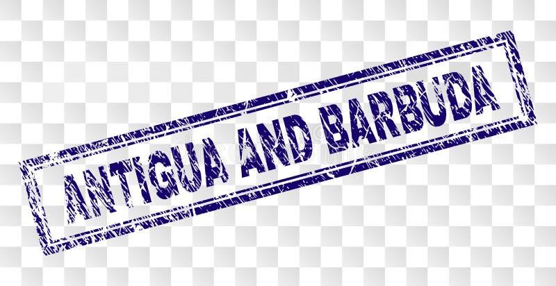 Timbre grunge de rectangle de l'ANTIGUA-ET-BARBUDA illustration de vecteur