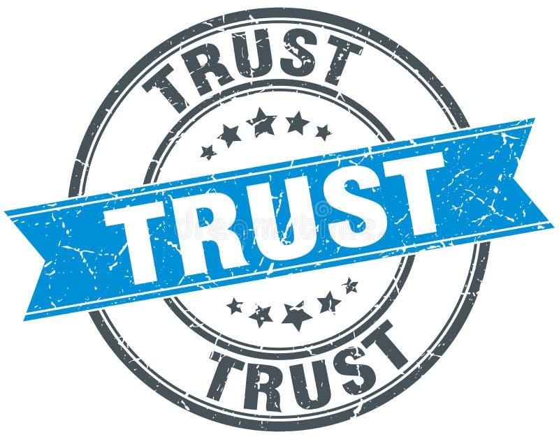 timbre grunge rond de confiance illustration stock