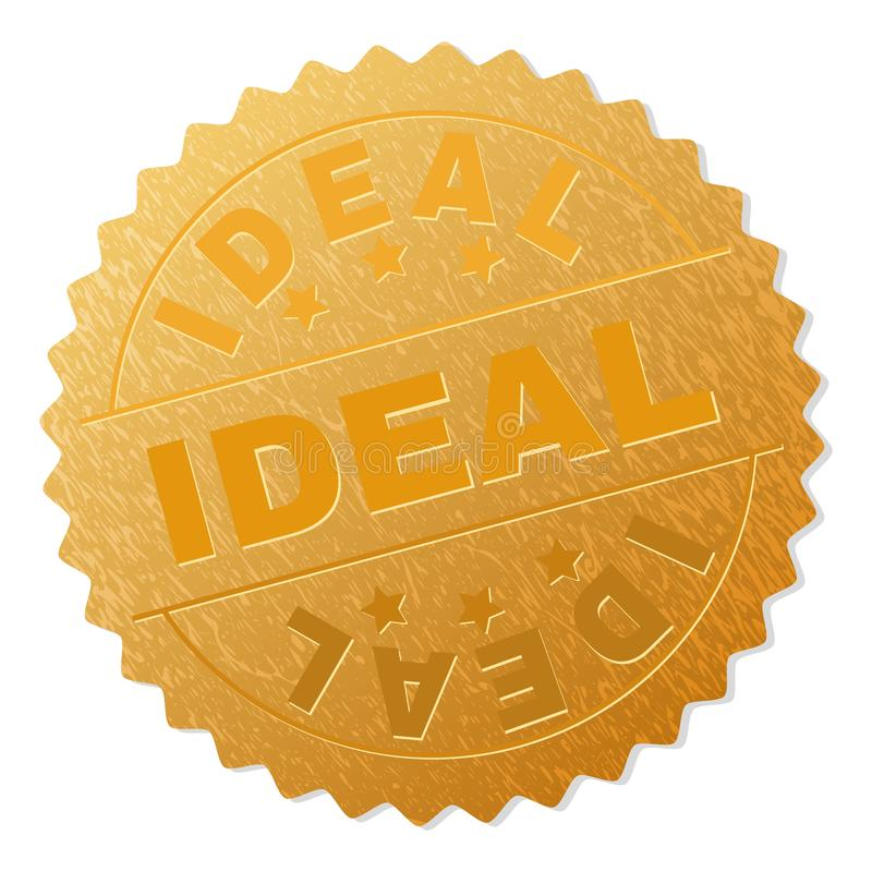 Timbre IDÉAL d'insigne d'or illustration de vecteur