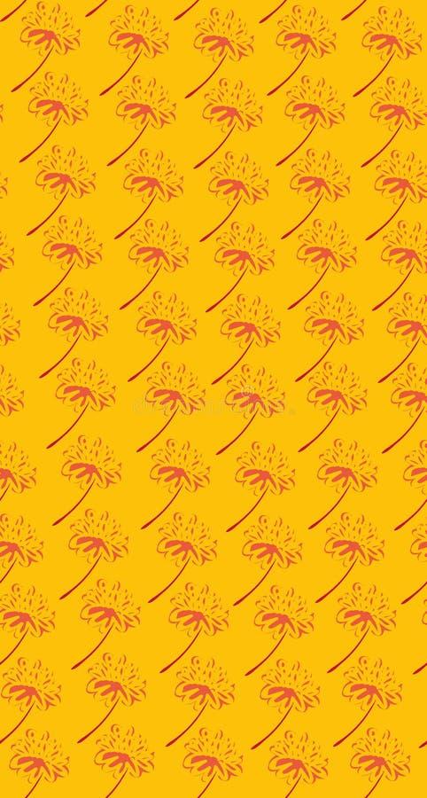 Timbre jaune de fleur comme le mod?le sans couture de vecteur de formes illustration de vecteur