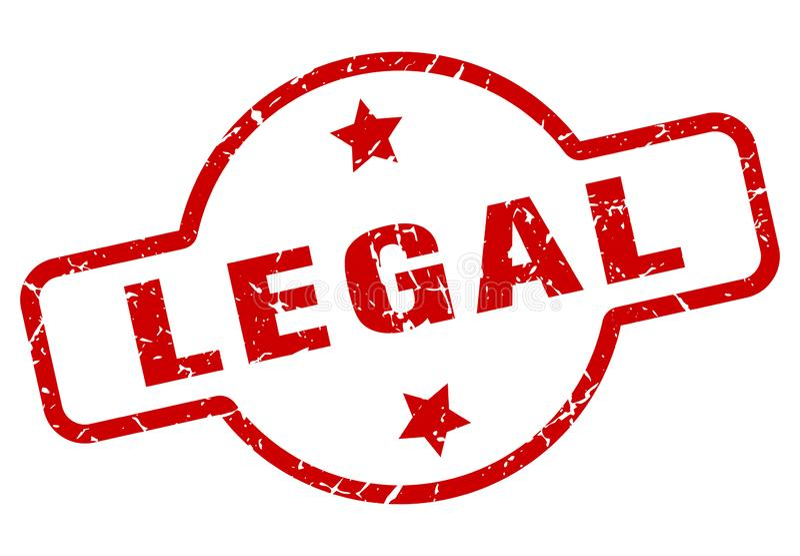 Timbre juridique illustration stock