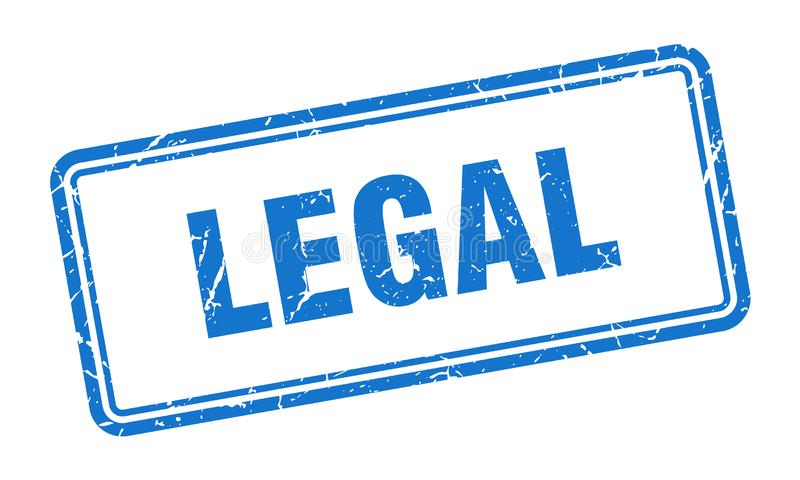 Timbre juridique illustration libre de droits