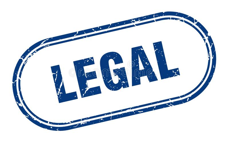 Timbre juridique illustration de vecteur