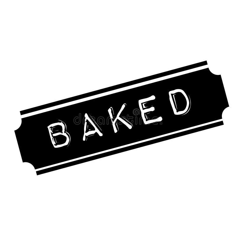 Timbre noir cuit au four illustration libre de droits