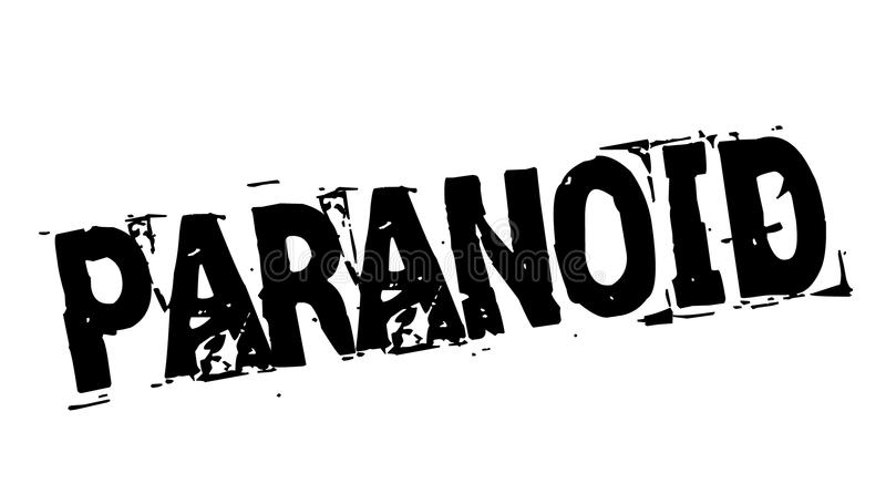 Timbre noir paranoïde illustration stock