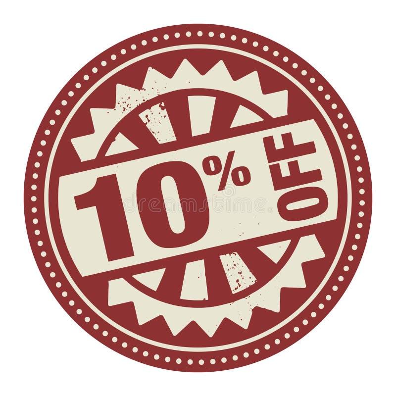 Timbre ou label abstrait avec le texte 10 pour cent outre d'Institut central des statistiques écrit illustration stock