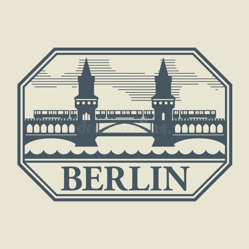Timbre ou label avec le mot Berlin à l'intérieur illustration libre de droits