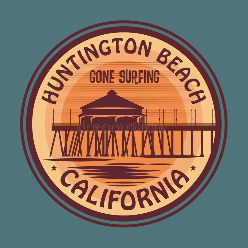 Timbre ou signe abstrait de surfer illustration libre de droits