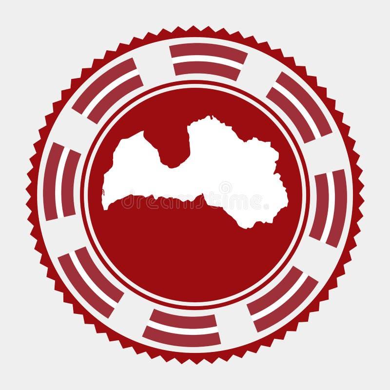 Timbre plat de la Lettonie illustration stock