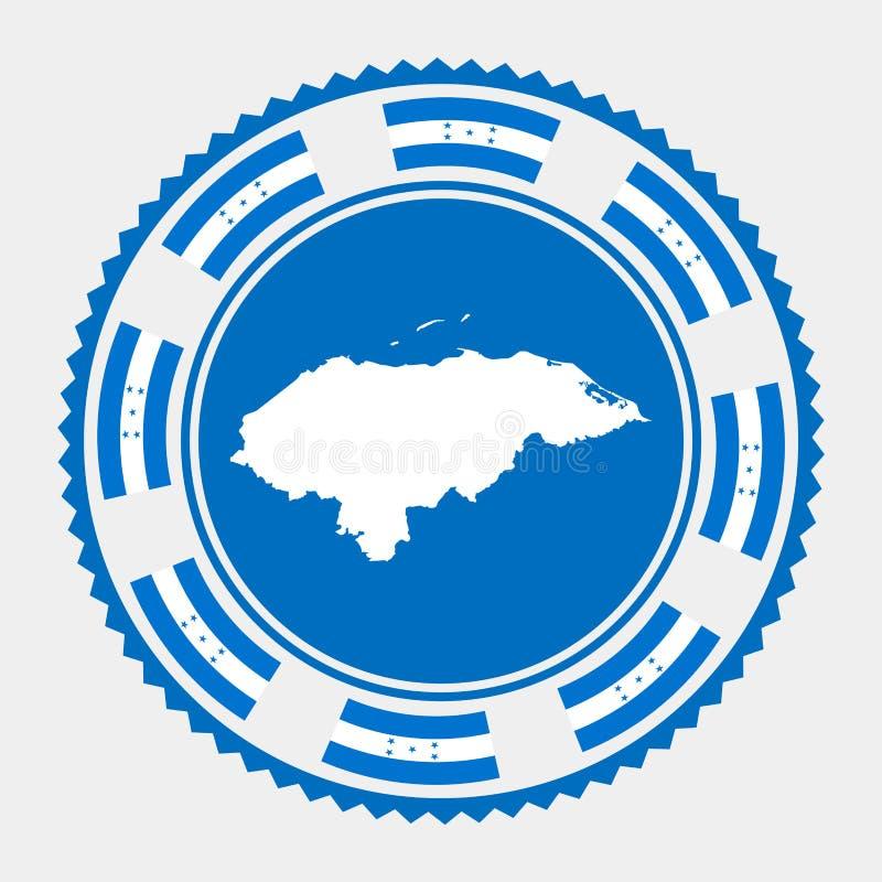 Timbre plat du Honduras illustration libre de droits