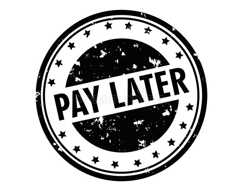 Timbre postérieur de salaire illustration libre de droits