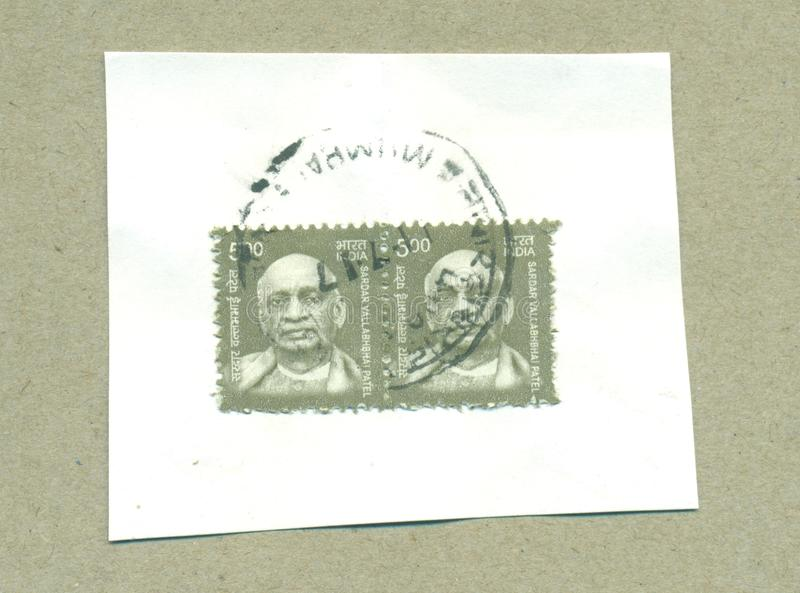 Timbre postal philatelique d'Inde illustration libre de droits